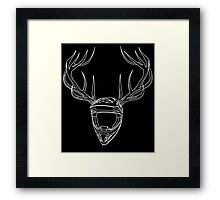 Mx Stag Head Framed Print