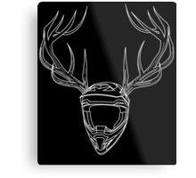 Mx Stag Head Metal Print