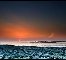 Sunset Doolin Beach, Crab Island, County Clare, Ireland.  by upthebanner