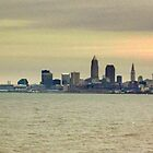 Cleveland Skyline from Lake Erie by bbaxter18