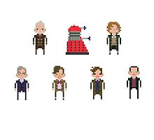Pixel Doctor Who - Eighth Doctor to Twelfth Doctor + Dalek - Set of 7 by fulifuli