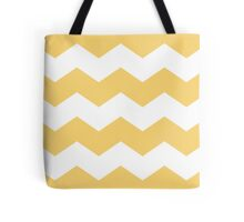 Modern Yellow and White Chevron Print Tote Bag