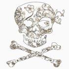 flowered skull by MrWolfe