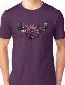 Grunge Flower Pink Unisex T-Shirt