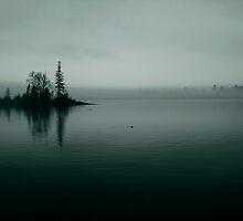 Foggy Harbor ~Teal Duo-tone by Karen Karl