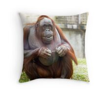 Can a guy not floss in peace? Throw Pillow