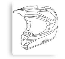 Mx Helmet Black Metal Print