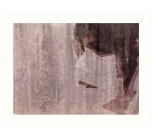 Fragmented - woman face Art Print