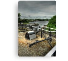 Glasson Marina Lock Canvas Print