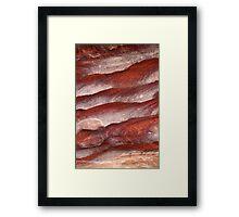 Sandstone formation Framed Print