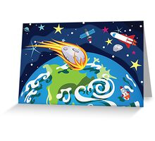 Earth Planet Greeting Card