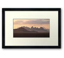 Sunrise in Wadi Rum Framed Print