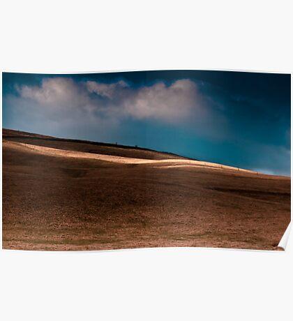 Sun Over Scottish Landscape. Poster