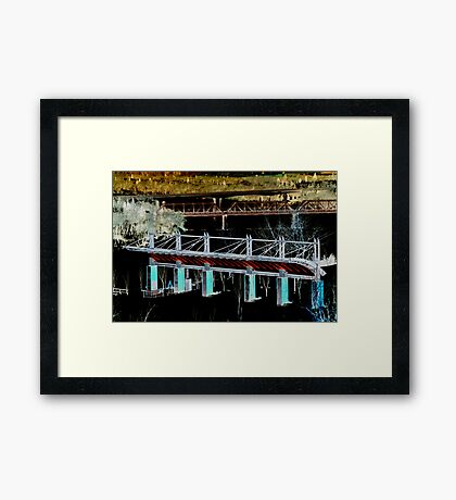 Valley Structures Framed Print