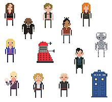 Pixel Doctor Who various characters - Set of 7 by fulifuli