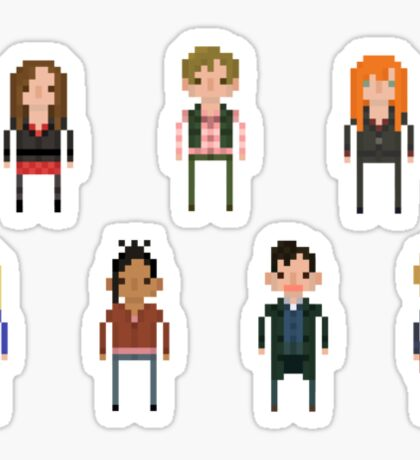Pixel Doctor Who various characters - Set of 7 Sticker