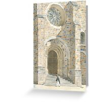 Front Façade - Bussière-Badil Church, France Greeting Card