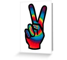 Peace Sign (Tie Dye) Greeting Card