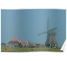 Windmill In The Mist Poster
