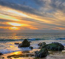 Low Tide at Sunset by Eddie Yerkish