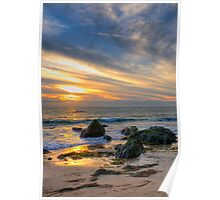 Low Tide at Sunset Poster