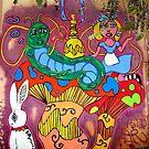 Alice & The Hooka smoking Caterpillar by Octavio Velazquez