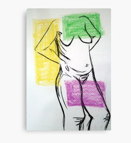 Coloured Nude Pose Canvas Print