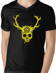 Yellow King Mens V-Neck T-Shirt