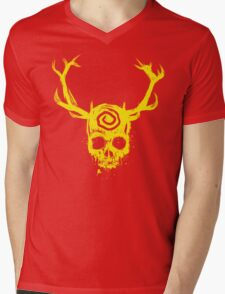 Yellow King Mens V-Neck T-Shirt