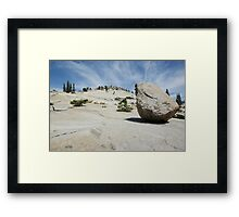 Lunar Rock Framed Print