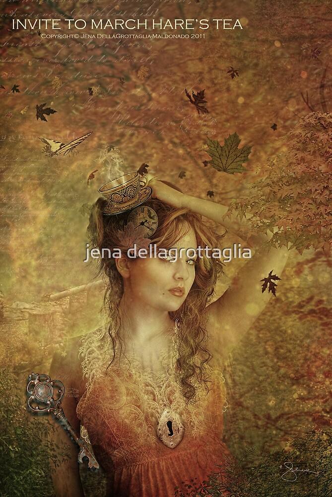 Invite to March Hare's Tea by Jena DellaGrottaglia
