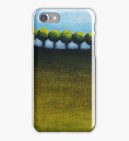 Faraway Abstract landscape iPhone Case/Skin