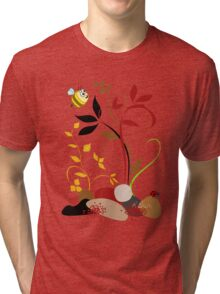 The Bee And The Ladybug With A Smile Tri-blend T-Shirt