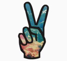 Peace Sticker (Sky) Kids Tee