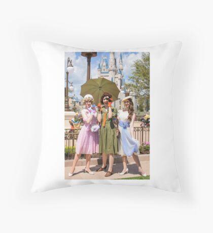 Dapper Dolls Throw Pillow