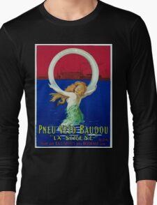 Leonetto Cappiello Affiche Pneu Baudou Long Sleeve T-Shirt