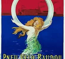 Leonetto Cappiello Affiche Pneu Baudou by wetdryvac