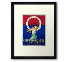 Leonetto Cappiello Affiche Pneu Baudou Framed Print