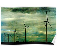 The Wind farm, Oxfordshire Poster