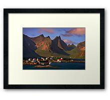 Sorvagen. Moskenesoy Island. Lofotens. Norway. Framed Print