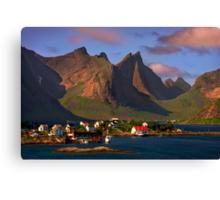 Sorvagen. Moskenesoy Island. Lofotens. Norway. Canvas Print