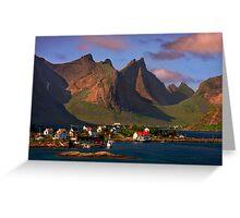 Sorvagen. Moskenesoy Island. Lofotens. Norway. Greeting Card