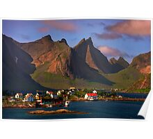 Sorvagen. Moskenesoy Island. Lofotens. Norway. Poster