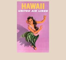 Hawaii Vintage Travel Poster Restored Unisex T-Shirt