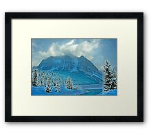 Winter Wonderland Alberta Canada Framed Print