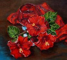 Red hot Hibiscus by Antionette