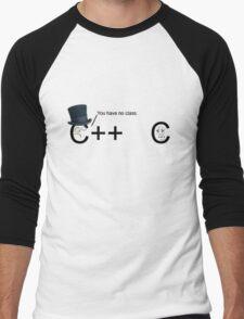 C++ v.s C   Programming language Men's Baseball ¾ T-Shirt