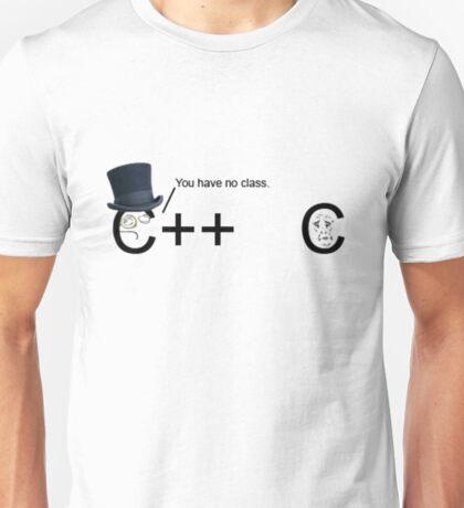 C++ v.s C   Programming language Unisex T-Shirt