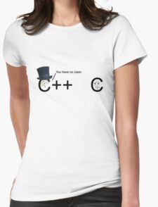 C++ v.s C   Programming language Womens Fitted T-Shirt