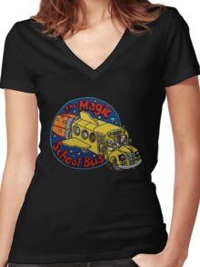 The Magic School Bus Women's Fitted V-Neck T-Shirt